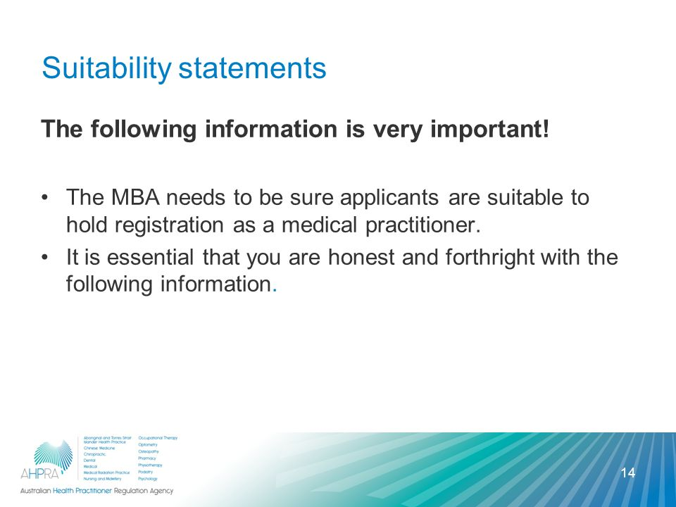 Suitability statements The following information is very important.