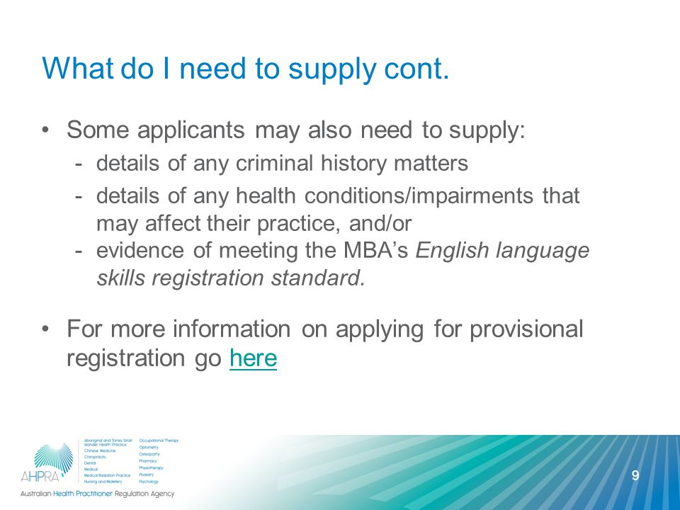 Proof of identity (ID) You must supply ID to meet AHPRA's Proof of identification policy.