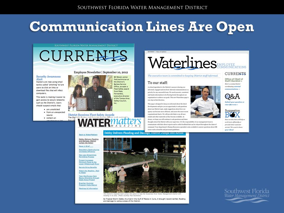 Communication Lines Are Open