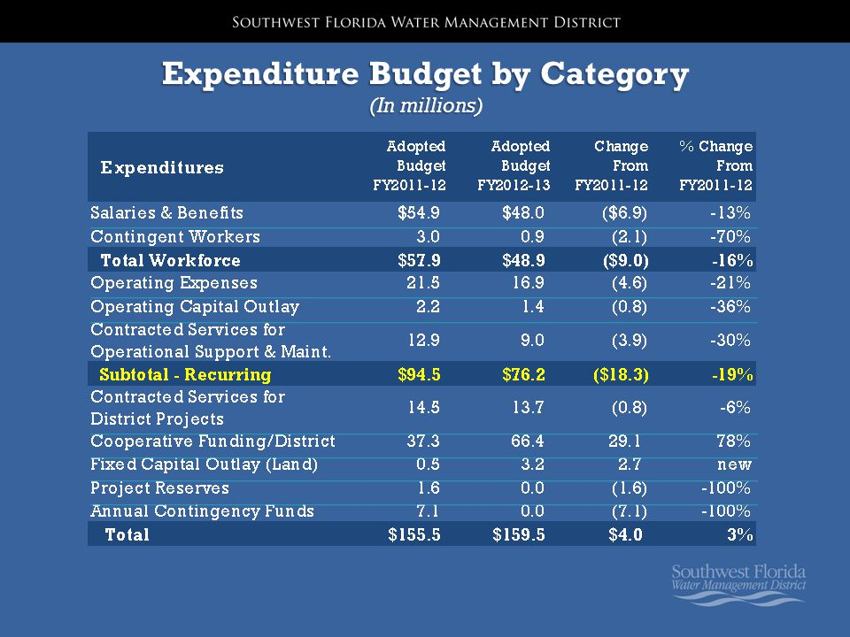 Expenditure Budget by Category (In millions)