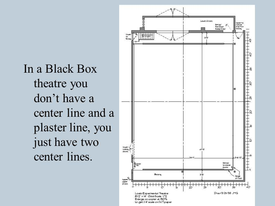 This Black Box is setup as a proscenium space.
