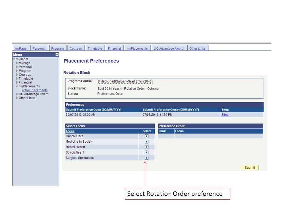 Select Rotation Order preference