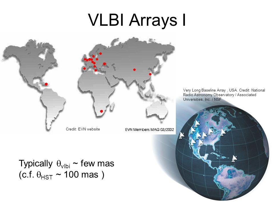 VLBI Arrays I Very Long Baseline Array, USA.