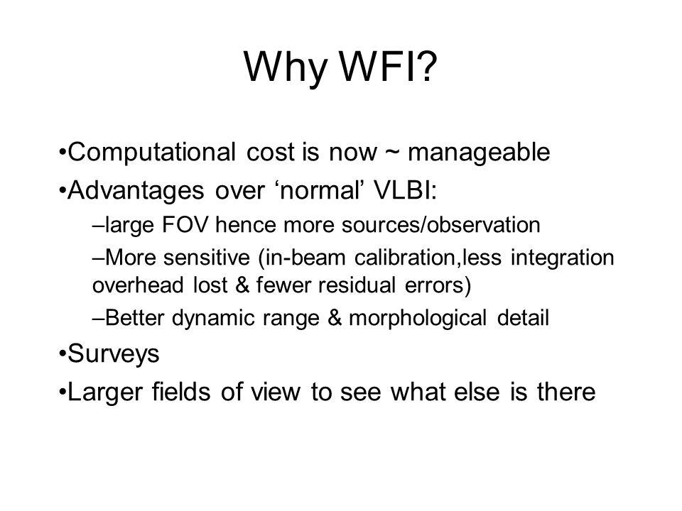 Why WFI.