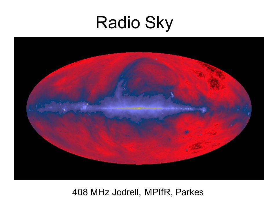 Radio Sky 408 MHz Jodrell, MPIfR, Parkes