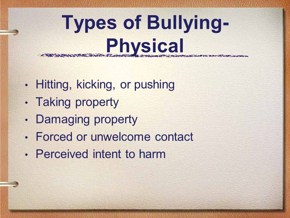 What does bullying look like? Direct forms of bullying/harassment: Easy to recognize Physical attacks Extortion Threats Public gestures/displays Indir