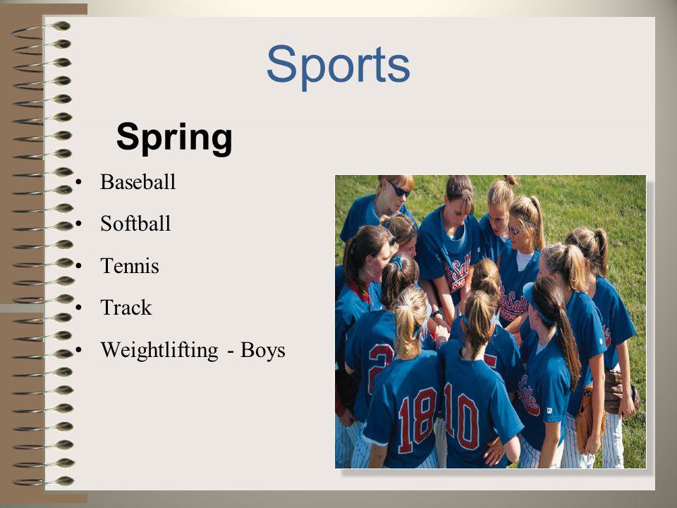Sports Spring Baseball Softball Tennis Track Weightlifting - Boys