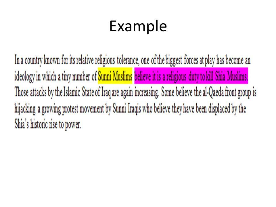 Make Notes AncientModern Sunni Shi'a