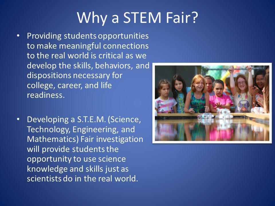Why a STEM Fair.