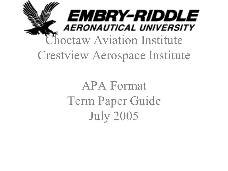 APA Format Term Paper Guide Grading: –50% proper APA format (margins, spacing, etc.) –50% content (quality of writing)