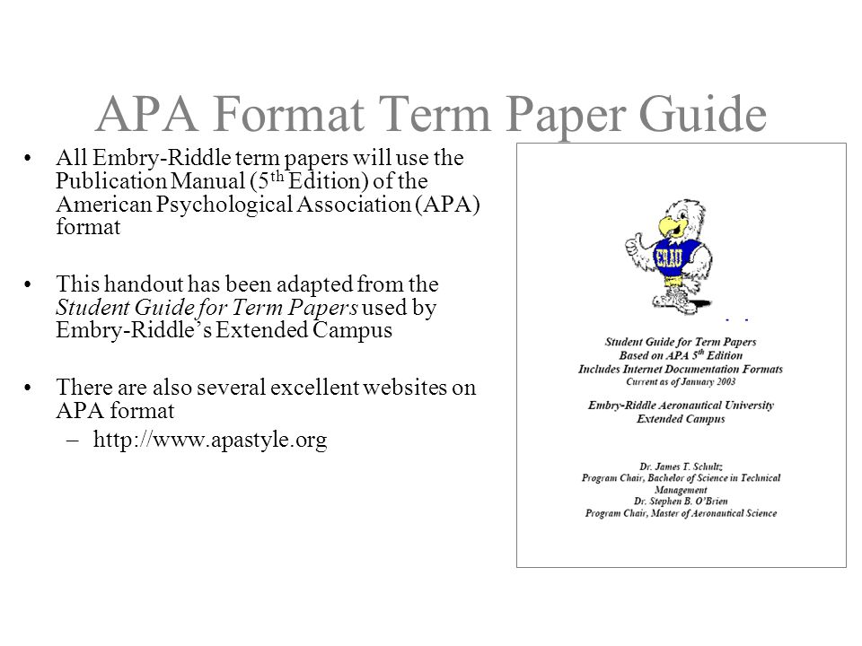 term paper in apa format Sample apa paper for students interested in learning apa style 6th edition research is important and that the hypotheses are reasonable any prior work on.