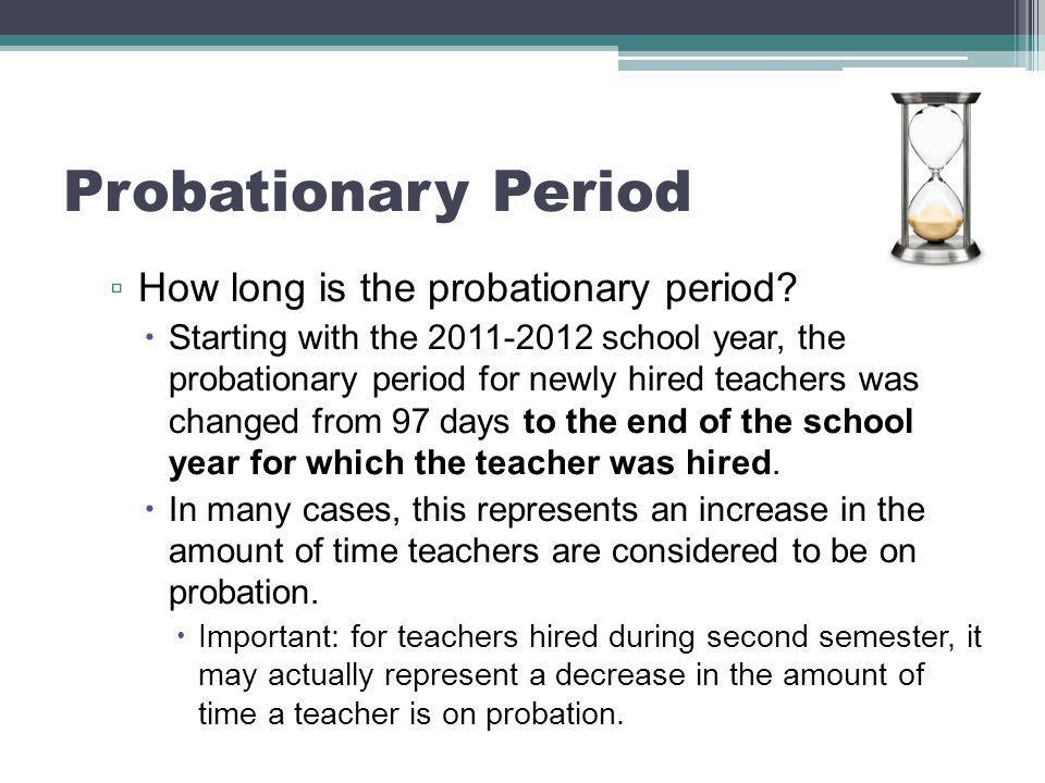 Probationary Period ▫ What do you do if you are observing serious performance problems.