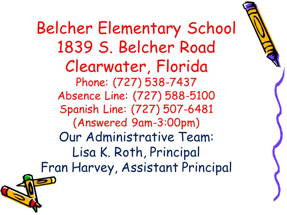 Belcher Elementary School 1839 S.