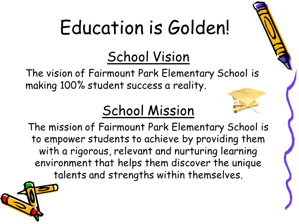 Title I funds Fairmount Park Elementary School is provided $380,464 to pay for services and programs for our students.