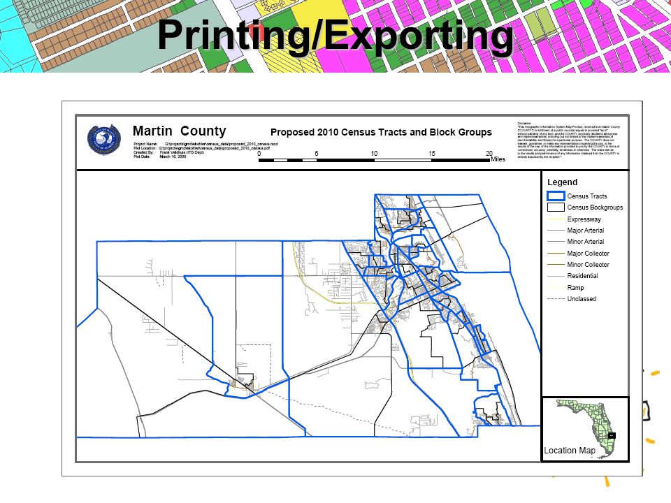Printing/Exporting
