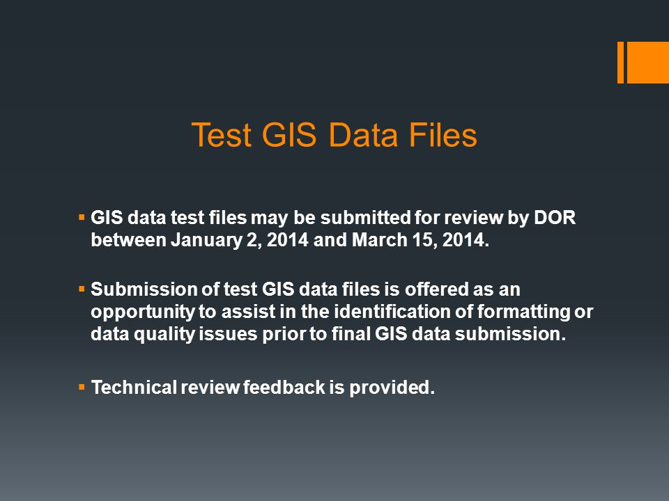 What GIS data must be submitted to DOR?