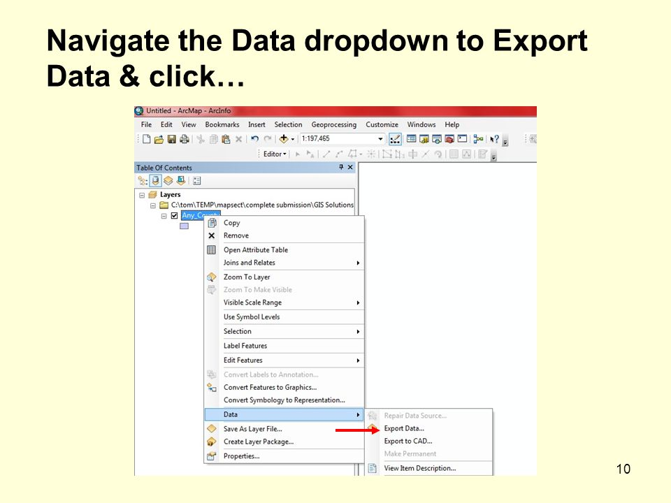 10 Navigate the Data dropdown to Export Data & click…