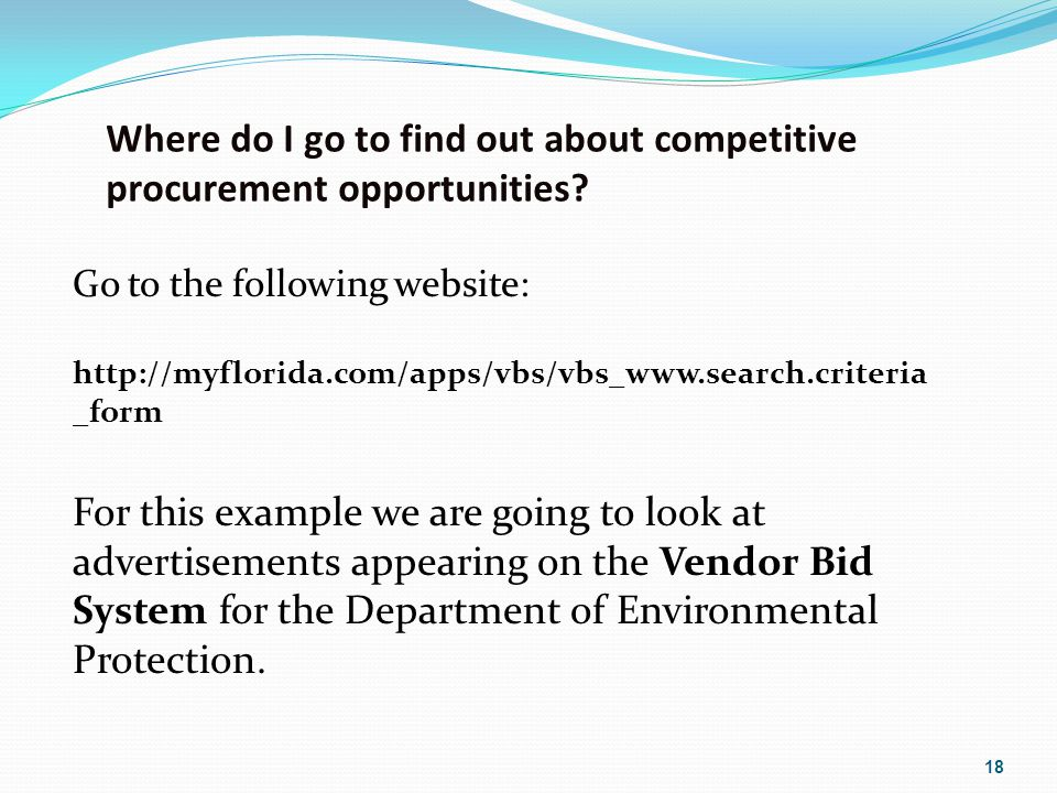 Where do I go to find out about competitive procurement opportunities.