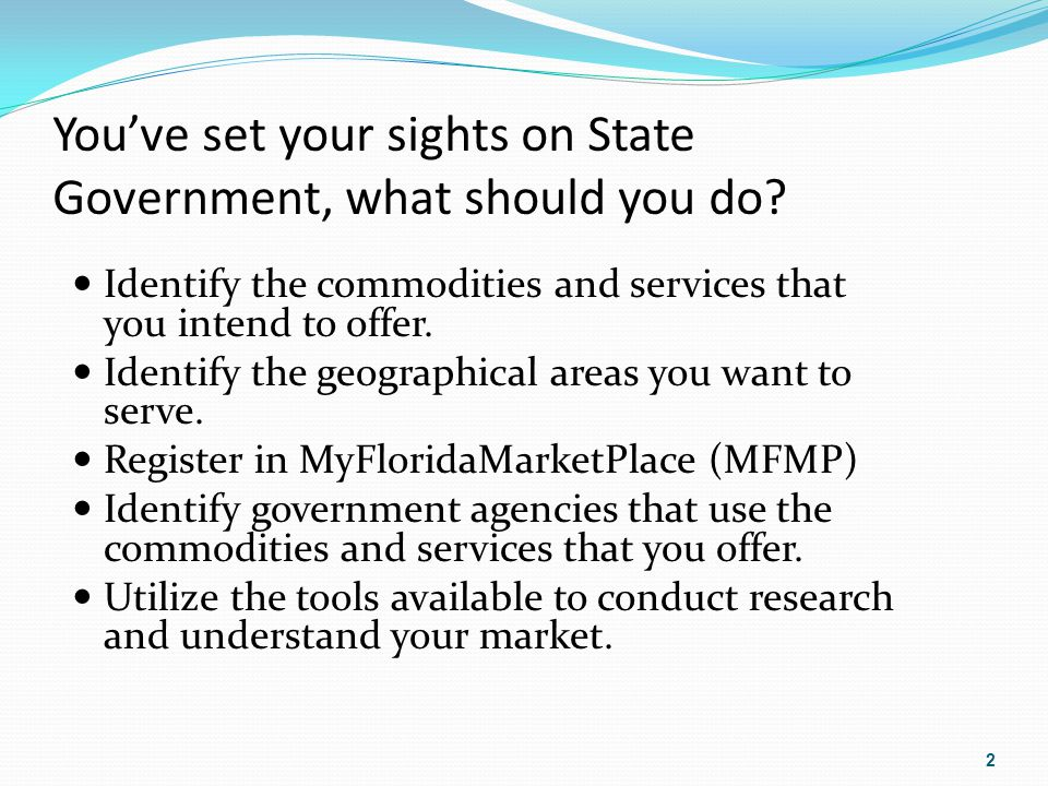 You've set your sights on State Government, what should you do.