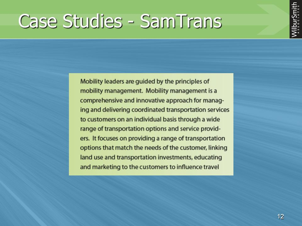 12 Case Studies - SamTrans