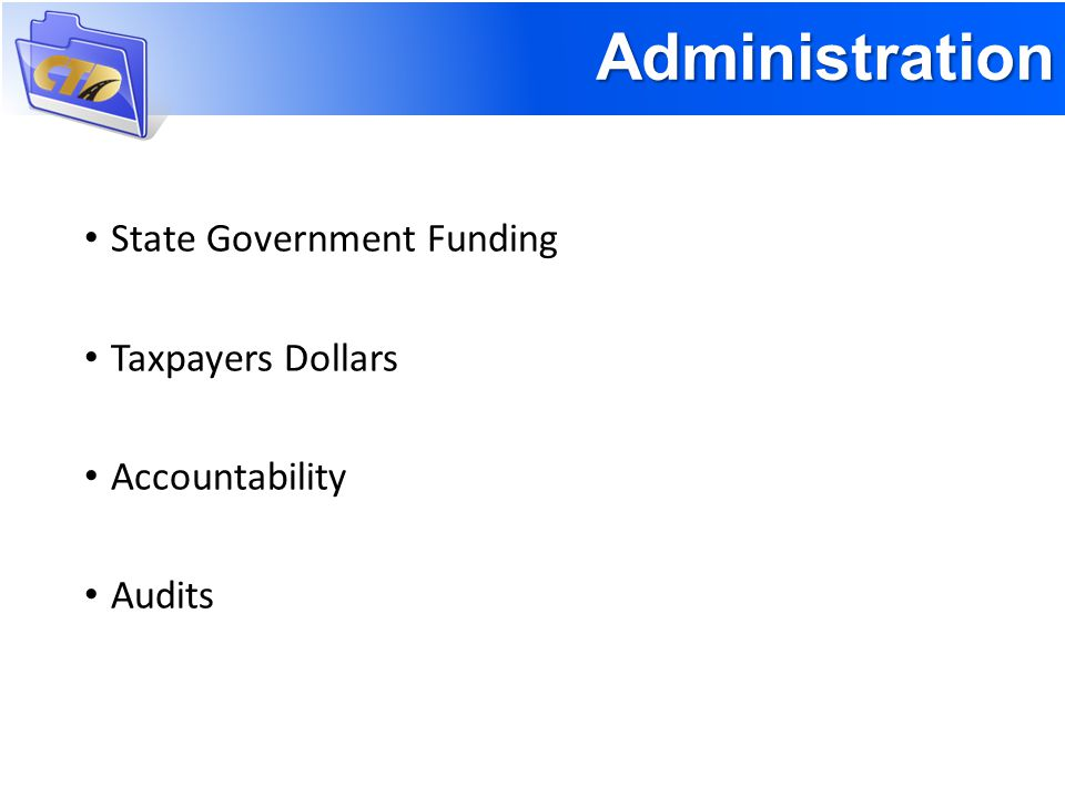 State Government Funding Taxpayers Dollars Accountability Audits Administration