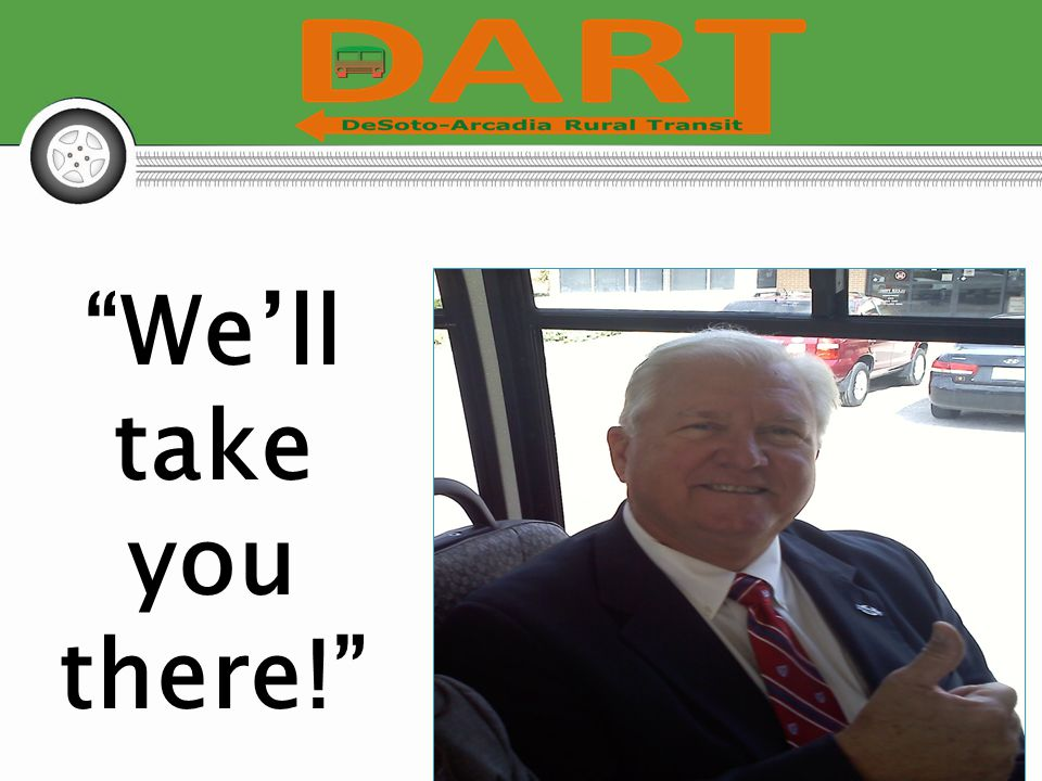 We'll take you there!
