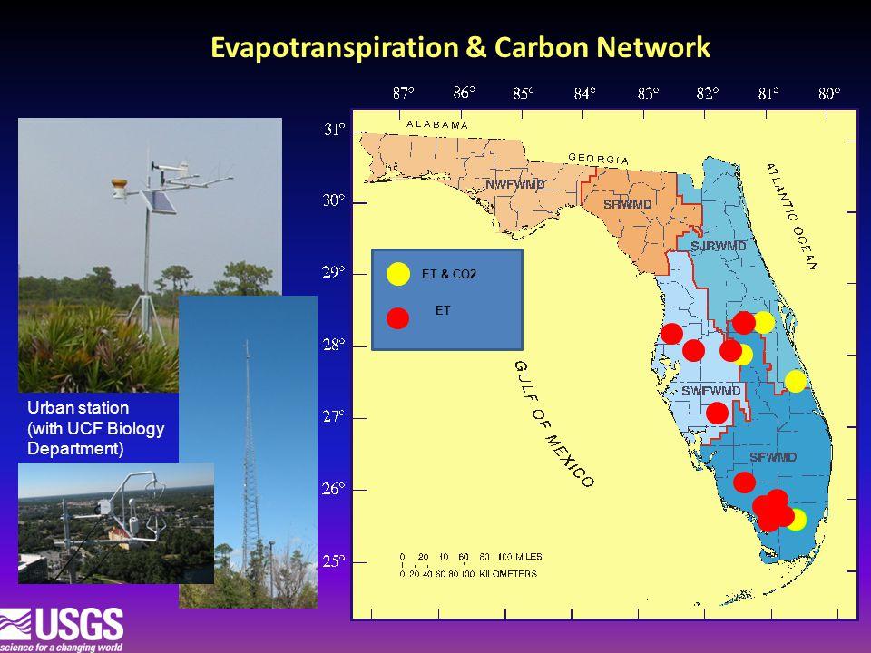 Evapotranspiration & Carbon Network Urban station (with UCF Biology Department) ET & CO2 ET