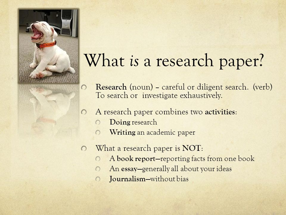 Research Paper: WHY?????.