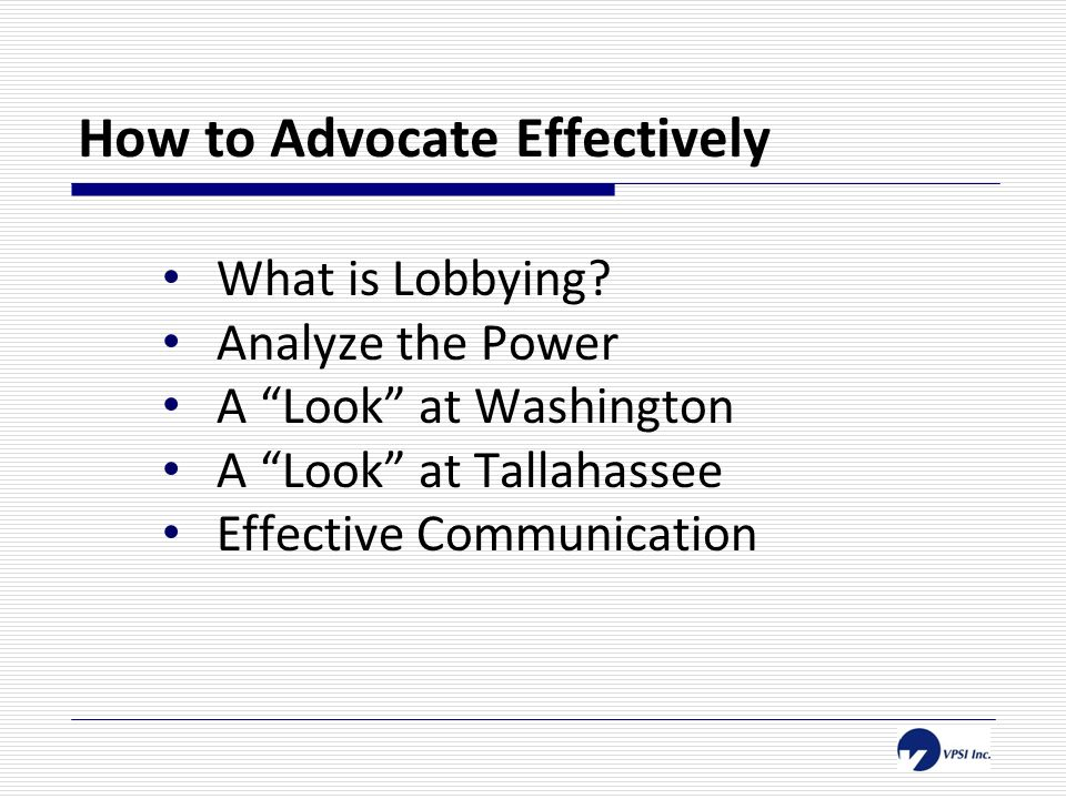 Why is advocacy important.