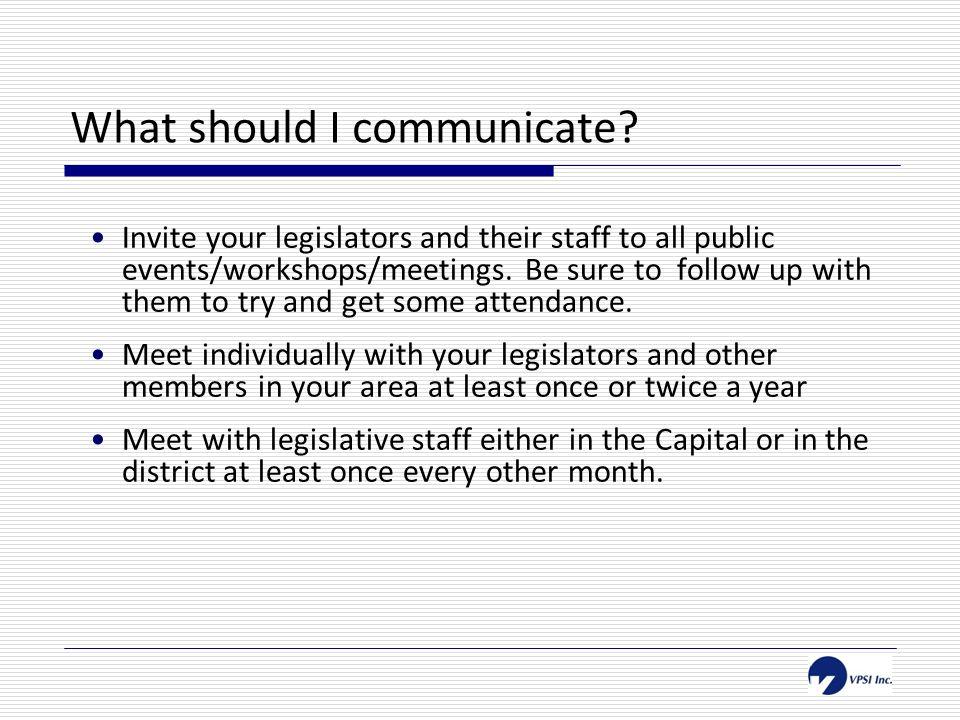 What should I communicate.