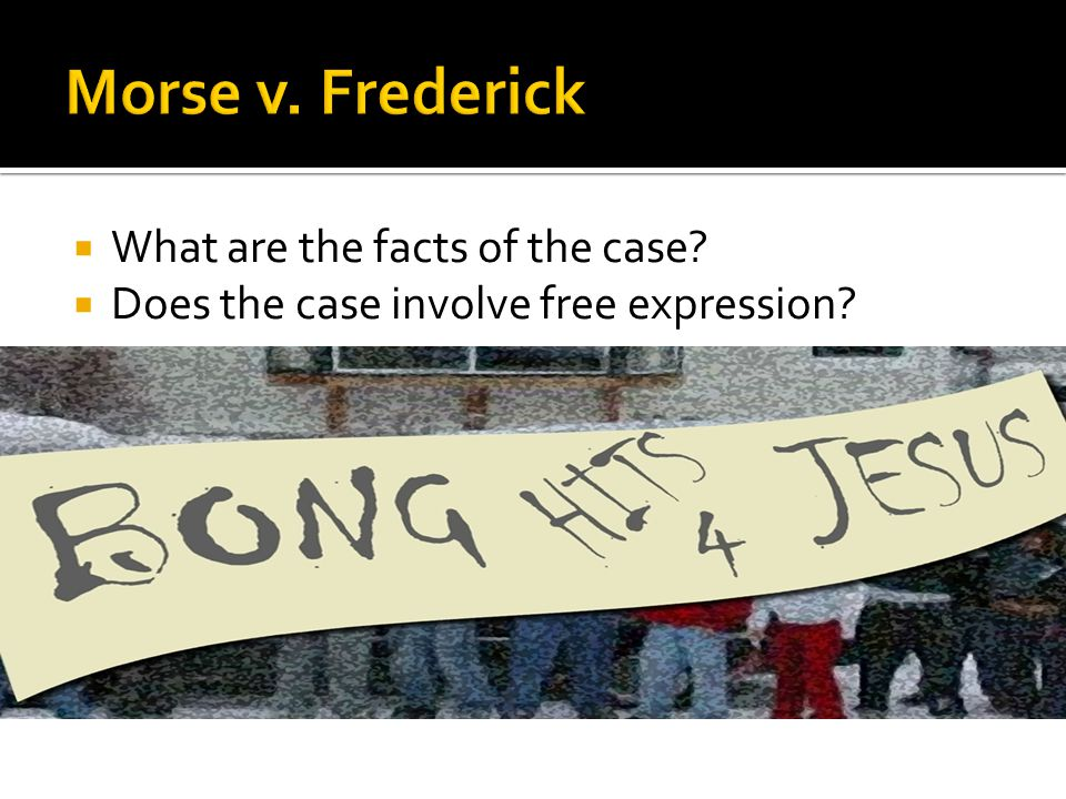  What are the facts of the case?  Does the case involve free expression?