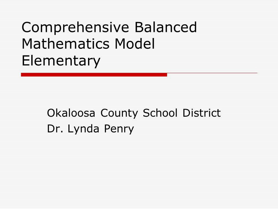 Elements of the Comprehensive Mathematical Model  Components of Mathematics  Math Model Examples  Principles of Mathematics Descriptors Best Practices  Self-Reflection Survey  Resources