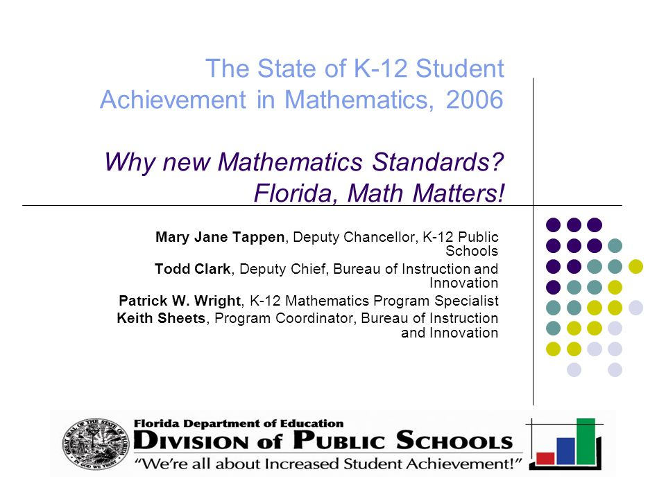 The same is not true for 8 th grade Mathematics