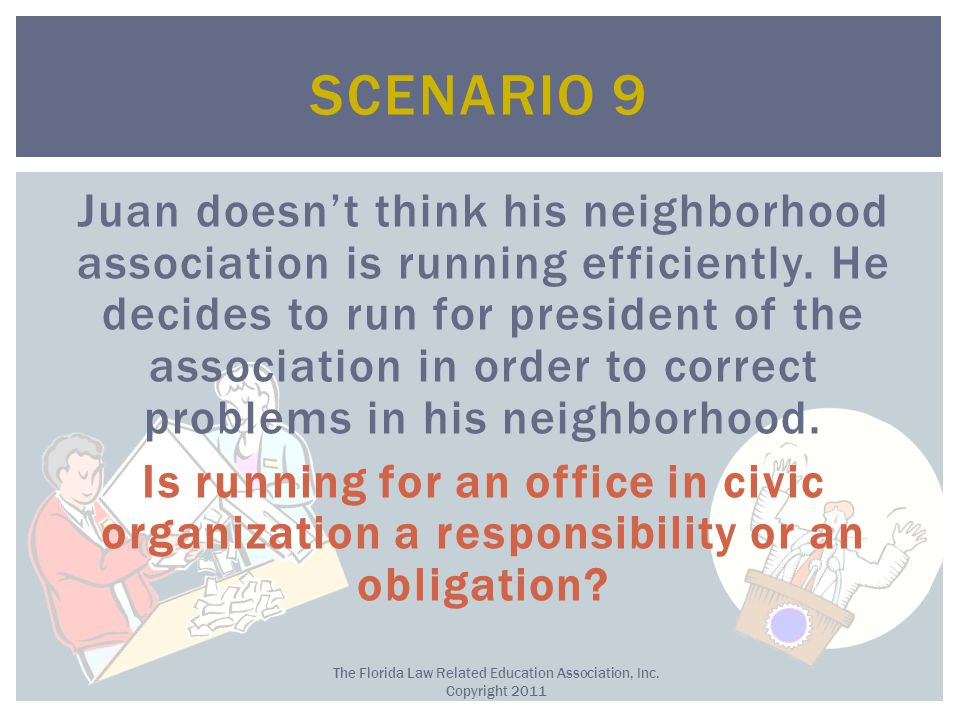 Juan doesn't think his neighborhood association is running efficiently.
