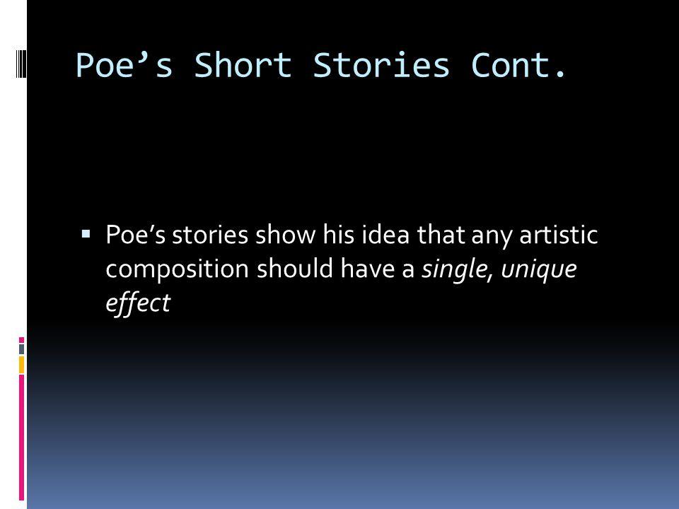 Poe's Short Stories Cont.