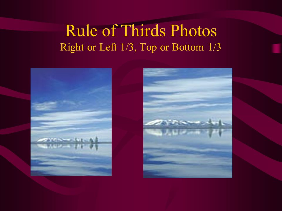 Rule of Thirds Photos