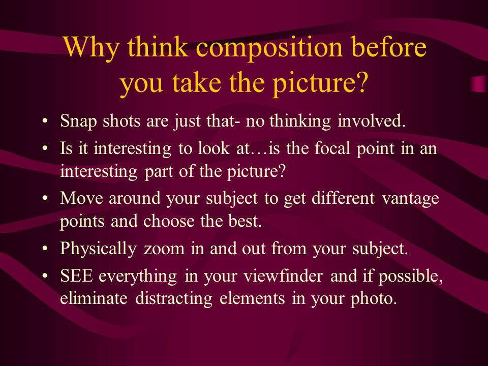 What is Photo Composition? Photo composition is an interesting arrangement of visual elements. Photo composition shows an understanding of artistic de