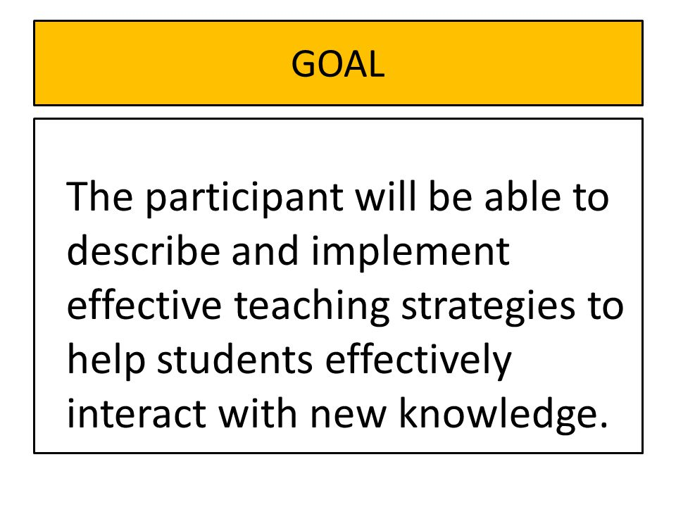 Design Question 2 What will I do to help students effectively interact with new knowledge?