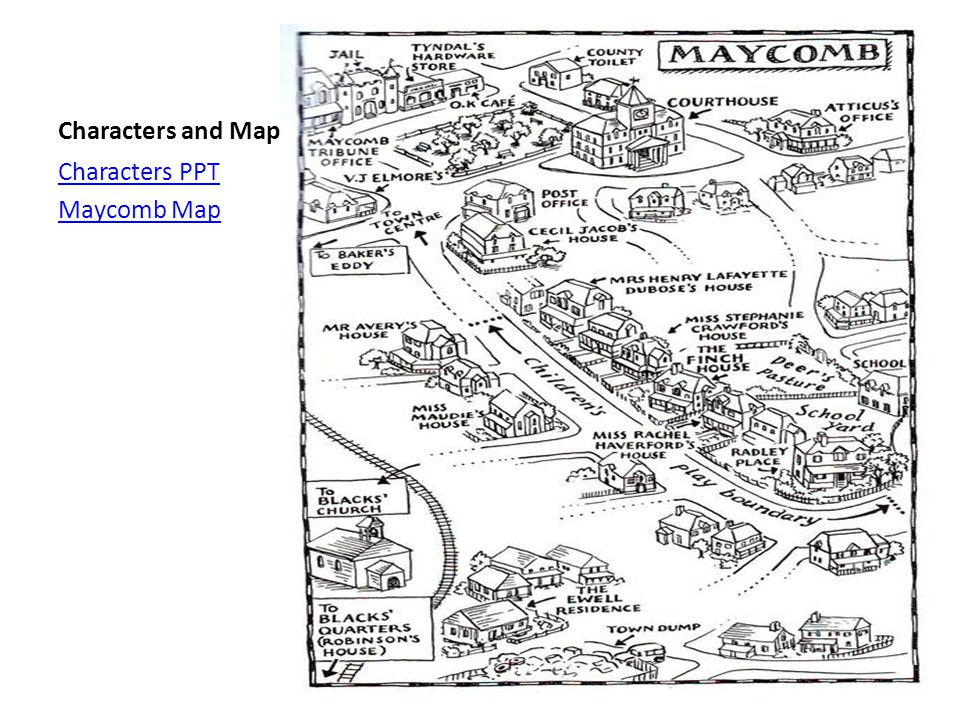 Characters and Map Characters PPT Maycomb Map