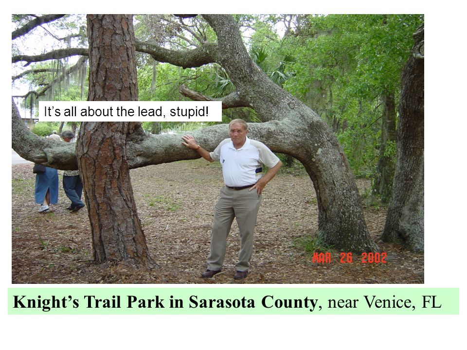 Knight's Trail Park in Sarasota County, near Venice, FL It's all about the lead, stupid!
