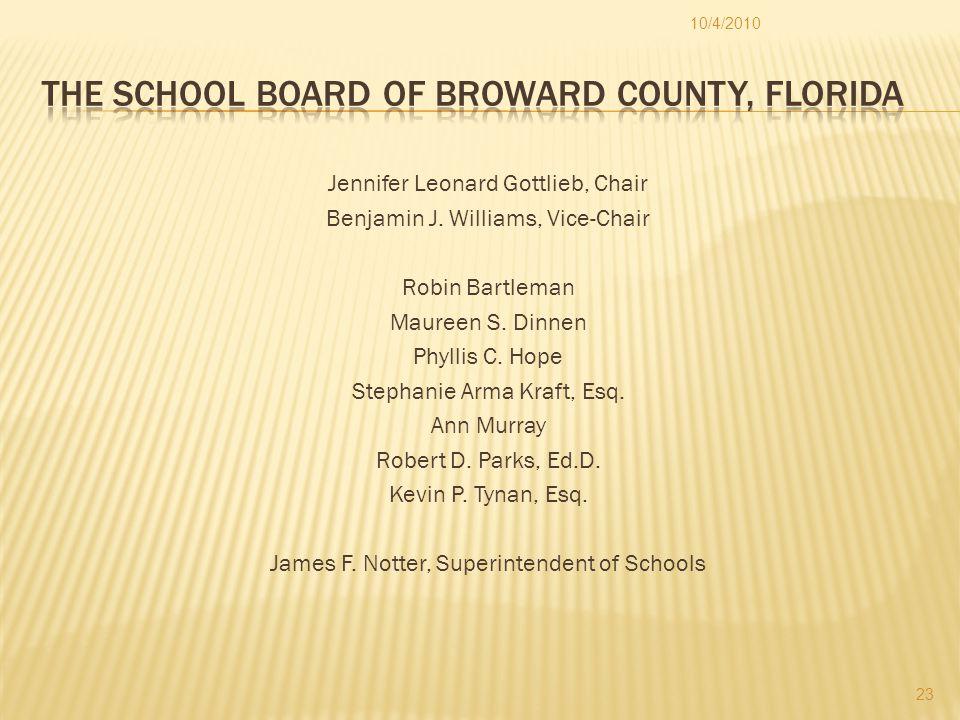 Jennifer Leonard Gottlieb, Chair Benjamin J. Williams, Vice-Chair Robin Bartleman Maureen S.