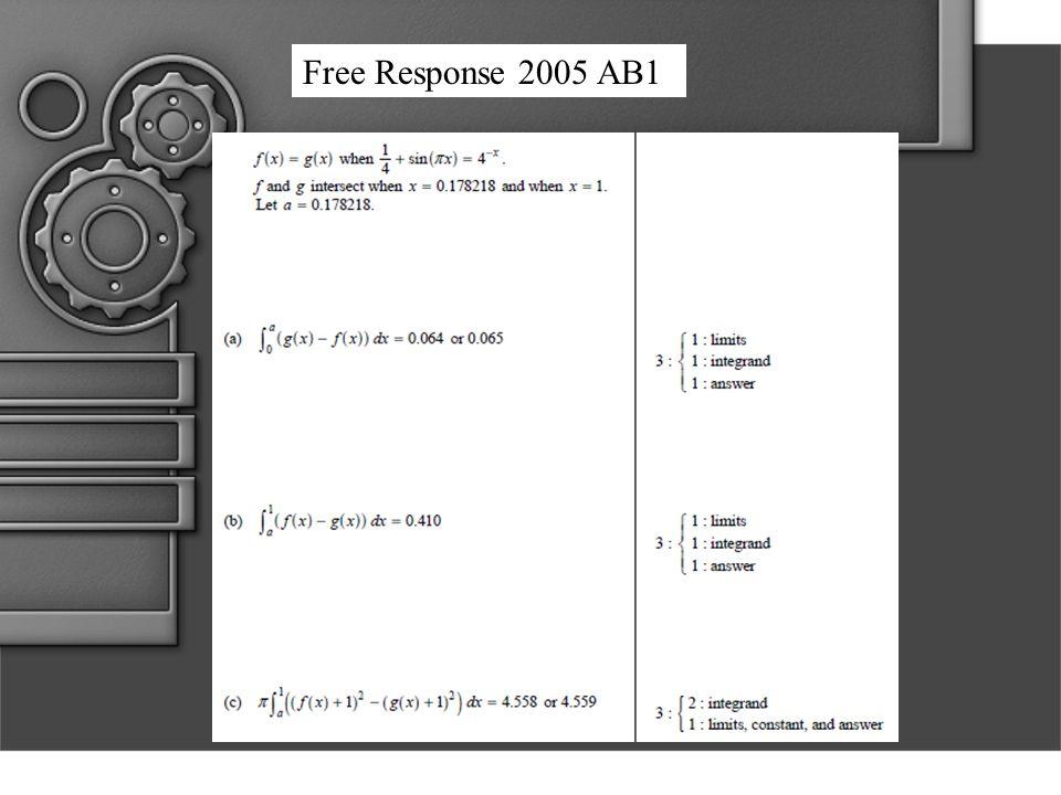 Free Response 2005 AB1