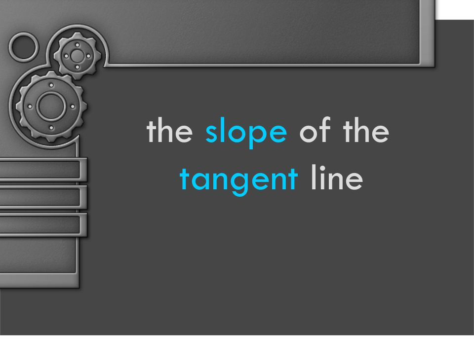the slope of the tangent line