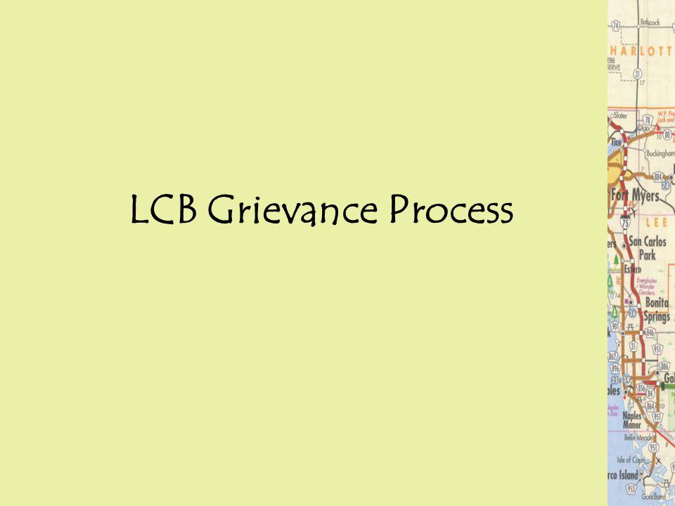 LCB Grievance Process