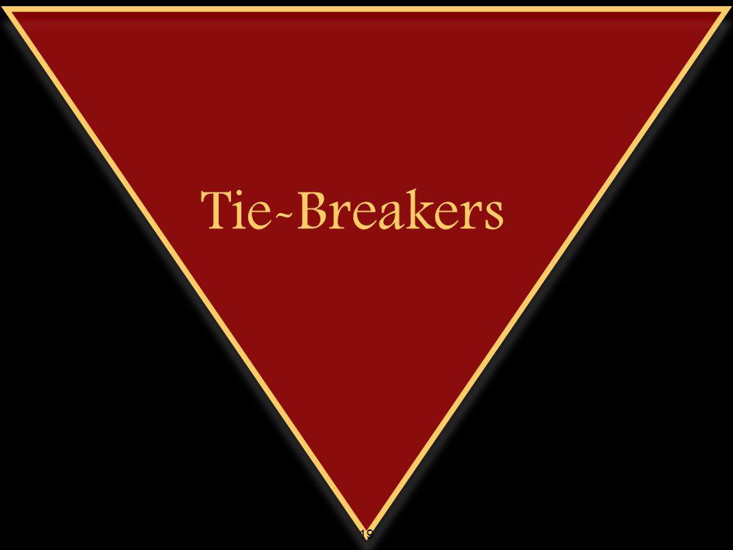 Tie-Breakers 19