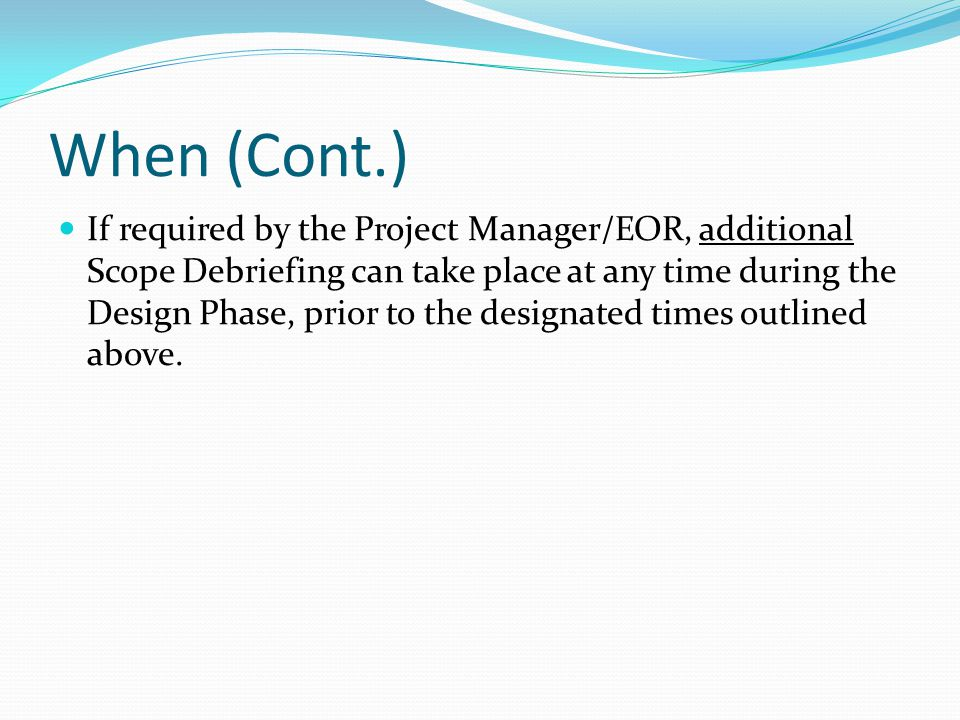 Conclusion These measures, along with Scope Debriefing Comments will be shared with all Program managers, FDOT Project Managers, Consultant Project Managers, Scope Teams, etc.