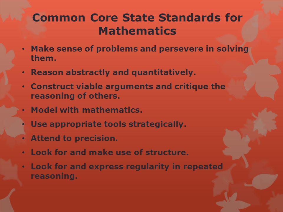 Example standard for fifth-grade mathematics