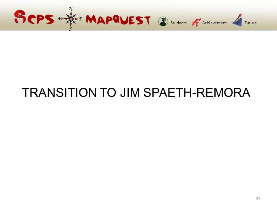 StudentsAchievementFuture TRANSITION TO JIM SPAETH-REMORA 39