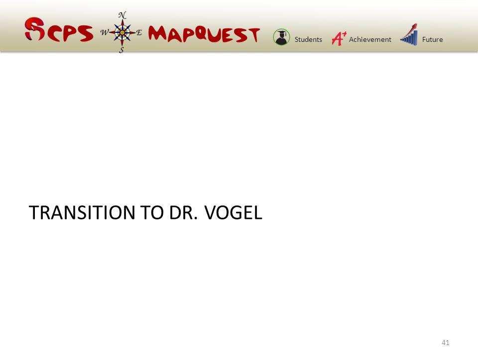 StudentsAchievementFuture TRANSITION TO DR. VOGEL 41