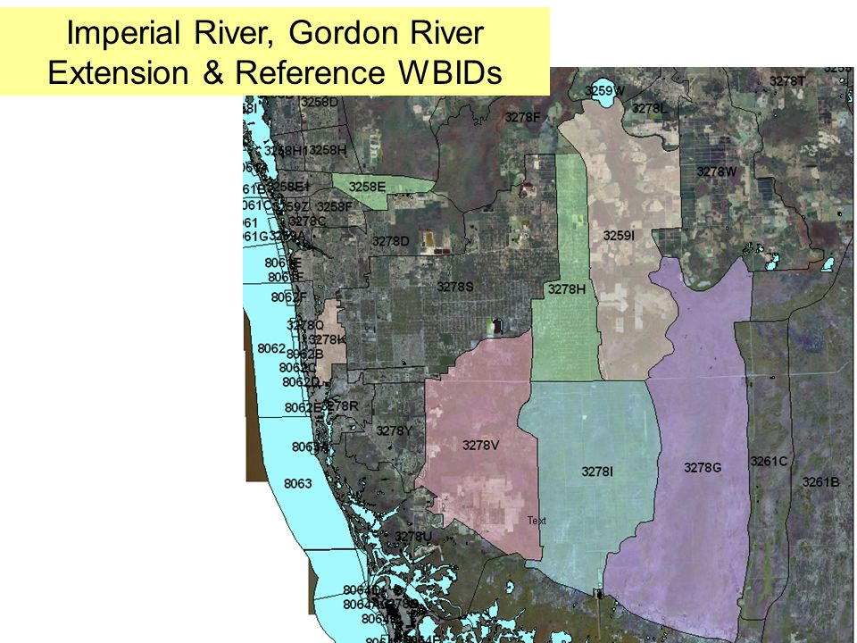 Imperial River, Gordon River Extension & Reference WBIDs